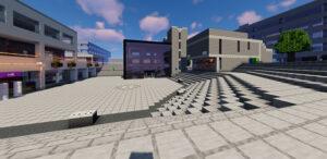Estudantes recriam campus da universidade no Minecraft