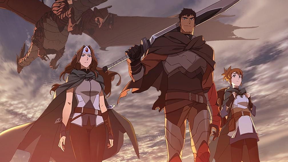 DOTA Dragon's Blood foi lançado hoje na Netflix.