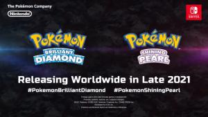 Pokémon Brilliant Diamond e Pokémon Shining Pearl serão lançados em 2021