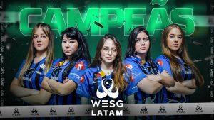 Equipe feminina da FURIA se sagrou campeã da WESG LATAM 2021 de CS:GO