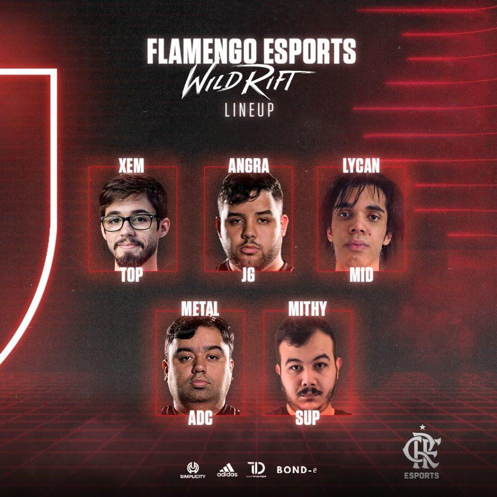 Line up de Wild Rift do Flamengo