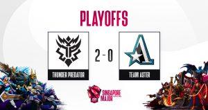 A Thunder Predator venceu a Aster e está no top 8 da Major