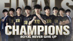 RNG é campeã da LPL.