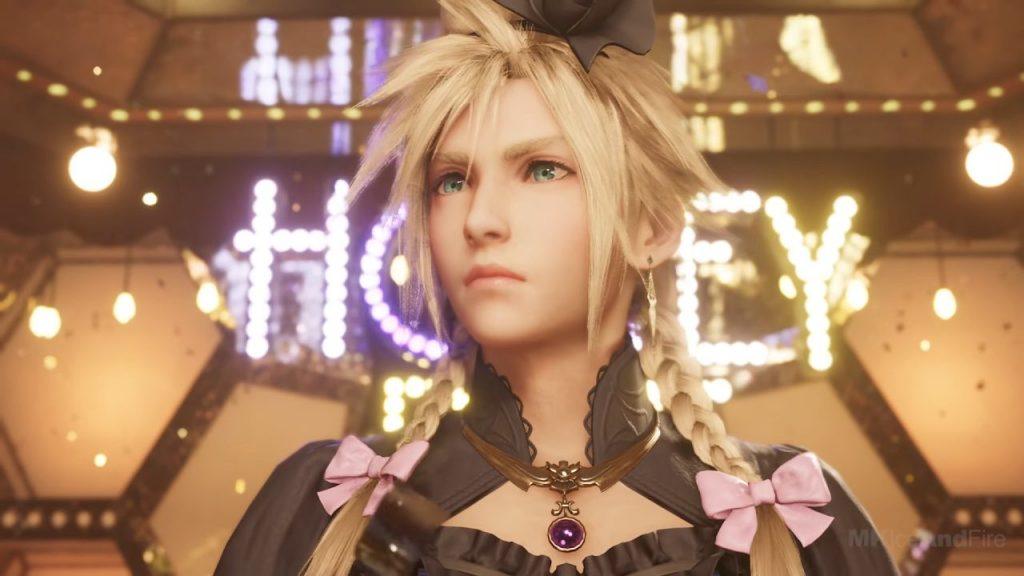 Cloud, de Final Fantasy 7 Remake, fazendo crossdress