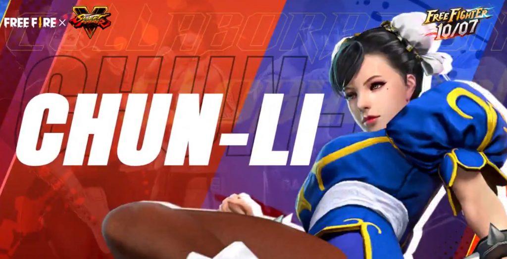 Skin de Chun-Li é lançada em Free Fire