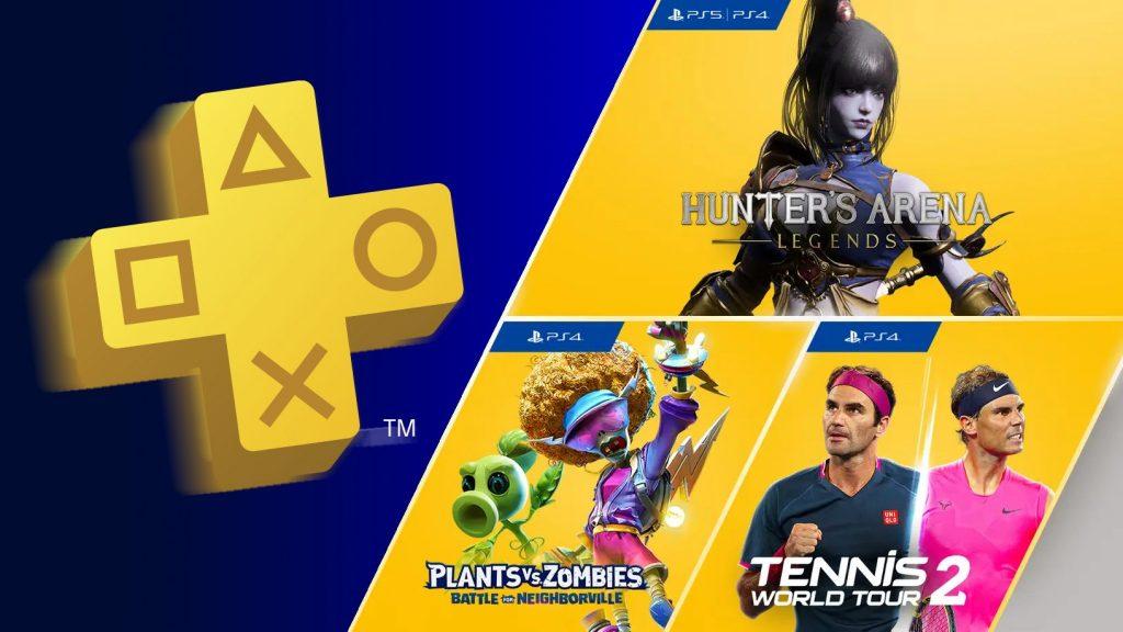 Jogos de agosto para membros PlayStation Plus: Hunter's Arena: Legends, Plants vs. Zombies: Battle for Neighborville e Tennis World Tour 2