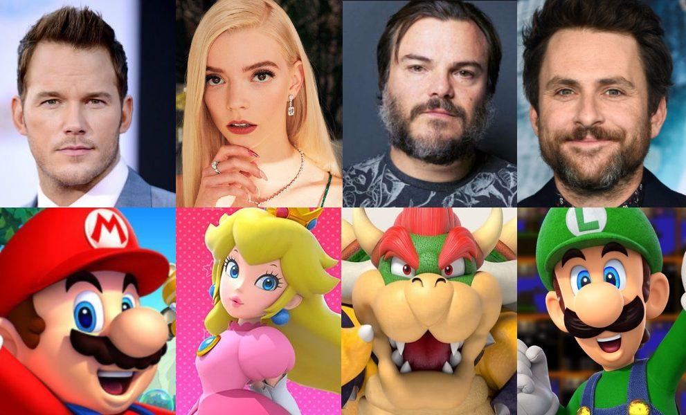Elenco do filme de Mario Bros com Chris Pratt, Jack Black e Anya Taylor-Jo