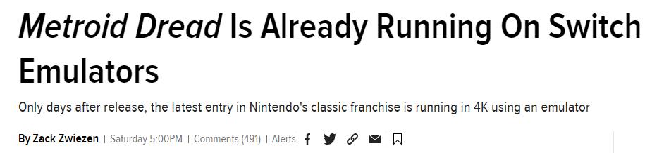 Headline do artigo original publicado na Kotaku